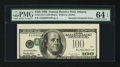 Error Notes:Inverted Third Printings, Fr. 2175-F $100 1996 Federal Reserve Note. PMG Choice Uncirculated64 EPQ.. ...