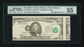Error Notes:Miscellaneous Errors, Fr. 1980-F $5 1988A Federal Reserve Note. PMG About Uncirculated 55.. ...