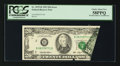 Error Notes:Foldovers, Fr. 2079-B $20 1993 Federal Reserve Note. PCGS Choice About New 58PPQ.. ...