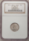 Bust Dimes, 1814 10C Small Date AU58 NGC. JR-1, R.3....