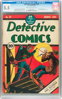 Detective Comics #30 (DC, 1939) CGC FN- 5.5 Cream to off-white pages