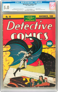 Detective Comics #33 (DC, 1939) CGC VG/FN 5.0 Cream to off-white pages