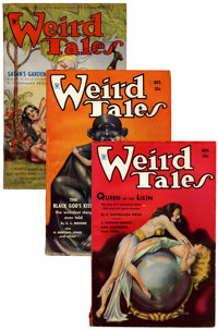 Weird Tales Conan Group (Popular Fiction, 1934-35) Condition: Average FN-.... (Total: 3 Items)