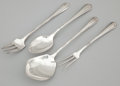 Silver Flatware, American:Other , A PARTIAL AMERICAN SILVER FLATWARE SERVICE . Towle Silversmiths,Newburyport, Massachusetts, circa 1928. Marks: (T-lion) S...(Total: 9 Items Items)