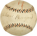 "Autographs:Baseballs, 1919 Mordecai ""Three Finger"" Brown Single Signed Baseball...."