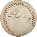 Autographs:Baseballs, Late 1920's Lou Gehrig Single Signed Baseball....