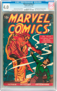 Marvel Comics #1 (Timely, 1939) CGC VG 4.0 Cream to off-white pages