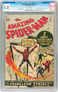 Silver Age (1956-1969):Superhero, The Amazing Spider-Man #1 (Marvel, 1963) CGC VG/FN 5.0 Off-whitepages....
