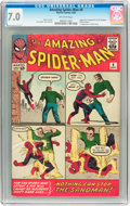 Silver Age (1956-1969):Superhero, The Amazing Spider-Man #4 (Marvel, 1963) CGC FN/VF 7.0 Off-white pages....