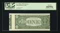 Error Notes:Skewed Reverse Printing, Fr. 1918-G $1 1993 Federal Reserve Note. PCGS Gem New 66PPQ.. ...