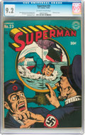 Golden Age (1938-1955):Superhero, Superman #23 (DC, 1943) CGC NM- 9.2 Off-white to white pages....
