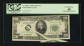 Error Notes:Foldovers, Fr. 2060-C $20 1950A Federal Reserve Note. PCGS Extremely Fine 40.....