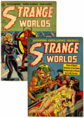 Golden Age (1938-1955):Science Fiction, Strange Worlds #5 and 6 Group (Avon, 1951-52) Condition: AverageVG.... (Total: 2 Comic Books)