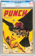 Golden Age (1938-1955):Superhero, Punch Comics #20 (Chesler, 1947) CGC VF/NM 9.0 Cream to off-white pages....