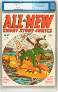 Golden Age (1938-1955):War, All New Comics #3 Mile High pedigree (Family Comics, 1943) CGC NM+9.6 White pages....