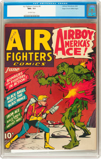Air Fighters Comics #9 Mile High pedigree (Hillman Fall, 1943) CGC NM+ 9.6 Off-white pages