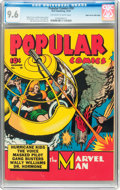 Golden Age (1938-1955):Miscellaneous, Popular Comics #58 Mile High pedigree (Dell, 1940) CGC NM+ 9.6Off-white to white pages....