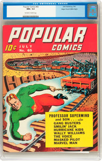Popular Comics #65 Mile High pedigree (Dell, 1941) CGC NM+ 9.6 Off-white to white pages
