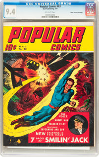 Popular Comics #63 Mile High pedigree (Dell, 1941) CGC NM 9.4 Off-white pages