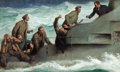 Paintings, EDMUND F. WARD (American, 1892-1991). At Sea. Oil on canvas. 20.5 x 34 in.. Signed lower right. ...