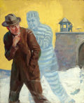 Pulp, Pulp-like, Digests, and Paperback Art, JOHN COUGHLIN (American, 20th Century). Detective Story coverillustration, May 1929. Oil on canvas. 21 x 17 in.. Not si...(Total: 2 Items)