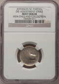 Errors, Undated 5C Jefferson Nickel--Partial Die Adjustment Strike--NGC. Ex: New England Collection.. From The New England Collec...