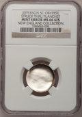 Undated 5C Jefferson Nickel--Obverse Struck Through Planchet--MS66 Six Full Steps NGC. Ex: New England Collection. From...