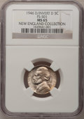 1946-D 5C Over Horizontal D MS65 NGC. FS-501. From The New England Collection of Error Coins....(PCGS# 38507)