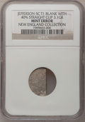 Errors, Undated Jefferson Nickel--Type One Blank with 40% Straight Clip--NGC. 3.1 gm. Ex: New England Collection.. From The New En...