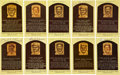 Baseball Collectibles:Others, Hall of Fame Signed Plaque Postcards Lot of 10....