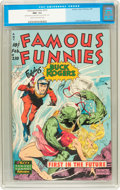 Golden Age (1938-1955):Science Fiction, Famous Funnies #210 (Eastern Color, 1954) CGC NM- 9.2 Cream tooff-white pages....