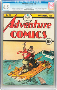 Adventure Comics #32 (DC, 1938) CGC FN+ 6.5 Slightly brittle pages