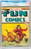 Golden Age (1938-1955):Miscellaneous, More Fun Comics #37 (DC, 1938) CGC FN+ 6.5 Tan to off-white pages....
