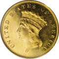 Proof Three Dollar Gold Pieces: , 1879 $3 PR63 Cameo PCGS. The Guide Book reports a proof mintage of just 30 pieces for the 1879. This figure is much sma...