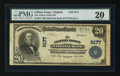 National Bank Notes:Virginia, Clifton Forge, VA - $20 1902 Plain Back Fr. 652 The Clifton ForgeNB Ch. # 9177. ...