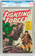 Golden Age (1938-1955):War, Our Fighting Forces #1 (DC, 1954) CGC VF 8.0 Off-white pages....