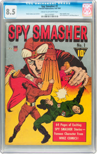 Spy Smasher #1 (Fawcett, 1941) CGC VF+ 8.5 Cream to off-white pages