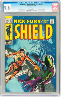 Nick Fury, Agent of S.H.I.E.L.D. #11 (Marvel, 1969) CGC NM+ 9.6 White pages