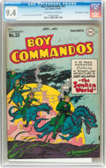 "Golden Age (1938-1955):War, Boy Commandos #23 Davis Crippen (""D"" Copy) pedigree (DC, 1947) CGCNM 9.4 Off-white to white pages..."