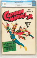 Golden Age (1938-1955):Superhero, Captain Marvel Jr. #5 Crowley Copy (Fawcett, 1943) CGC VF/NM 9.0 Cream to off-white pages....