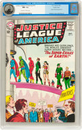 Silver Age (1956-1969):Superhero, Justice League of America #19 Pacific Coast pedigree (DC, 1963) CGC NM- 9.2 Off-white to white pages....