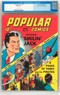 Golden Age (1938-1955):Cartoon Character, Popular Comics #74 Mile High pedigree (Dell, 1942) CGC NM 9.4 Off-white pages....