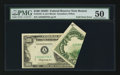 Error Notes:Foldovers, Fr. 2161-A $100 1950D Federal Reserve Note. PMG About Uncirculated50.. ...