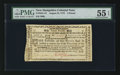 Colonial Notes:New Hampshire, New Hampshire August 24, 1775 £3 PMG About Uncirculated 55 EPQ.....
