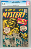 Silver Age (1956-1969):Mystery, Journey Into Mystery #59 (Marvel, 1960) CGC VF 8.0 Off-whitepages....