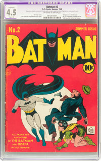 Batman #2 (DC, 1940) CGC Apparent VG+ 4.5 Slight (A) Off-white to white pages