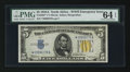 Small Size:World War II Emergency Notes, Fr. 2307* $5 1934A North Africa Silver Certificate. PMG ChoiceUncirculated 64 EPQ.. ...