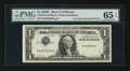 Error Notes:Inverted Third Printings, Fr. 1614 $1 1935E Silver Certificate. PMG Gem Uncirculated 65 EPQ.....