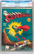 Golden Age (1938-1955):Superhero, Superman #15 (DC, 1942) CGC FN+ 6.5 Off-white to white pages....