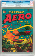 Golden Age (1938-1955):Science Fiction, Captain Aero Comics #26 Big Apple pedigree (Holyoke Publications,1946) CGC VF- 7.5 Off-white to white pages....